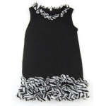 Ruffled Zebra Swing Dress