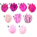 2 Toned Curly Feather Pads Pink Collection