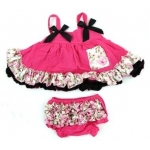 Hot Pink Shabby Chic Swing Top Sets
