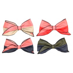 2-Toned Leather Bows