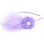 Lavender Feathered Headband