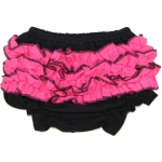 Black & Hot Pink Ruffled Bloomers