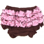 Brown & Pink Ruffled Bloomers