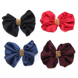 Beaded Satin Holiday Bows